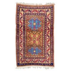 Beautiful Vintage Caucasian Shirwan Design Sinkiang Rug
