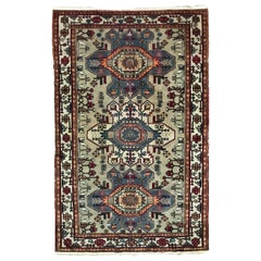 Beautiful Vintage Caucasian Shirwan Rug