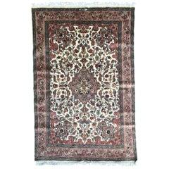 Beautiful Vintage Fine Pakistani Silk and Wool Rug