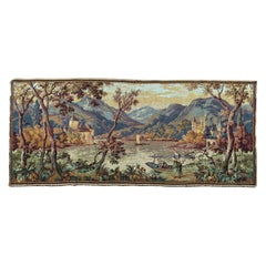 Beautiful Vintage French Jaquar Tapestry Aubusson Style