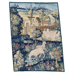 Beautiful Vintage French Needlepoint Tapestry