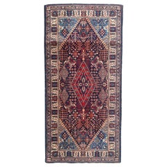 Beautiful Vintage French Persian Design Knotted Rug