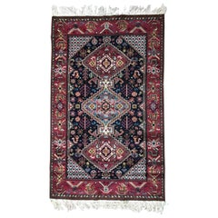 Beautiful Vintage French Shiraz Design Knotted Rug