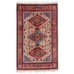 Beautiful Vintage French Shiraz Style Rug