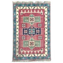 Beautiful Vintage Indian Durhi Cotton Flat Rug
