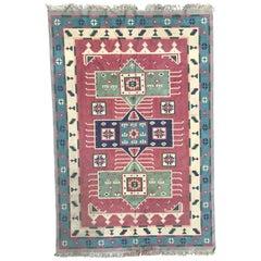 Beautiful Vintage Indian Durhi Cotton Rug