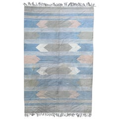 Beautiful Vintage Indian Flat Woven Rug