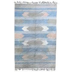 Beautiful Vintage Indian Flat-Woven Rug