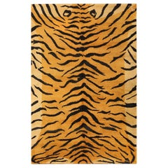 Beautiful Vintage Indian Tiger Rug. Size: 5 ft 4 in x 8 ft 2 in
