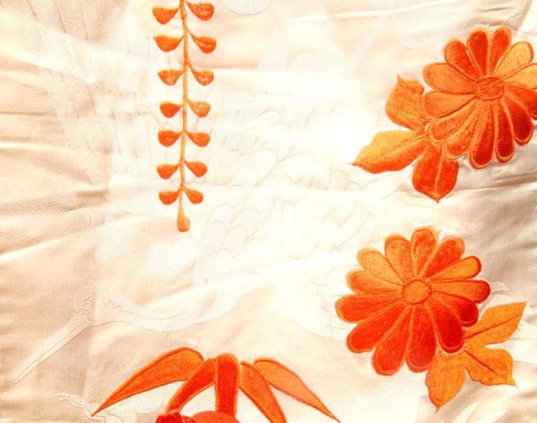 Silk Beautiful Vintage Japanese Ceremonial Kimono Uchikake For Sale