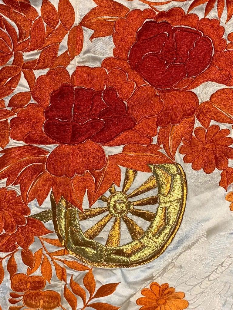 Beautiful Vintage Japanese Ceremonial Kimono Uchikake For Sale 1