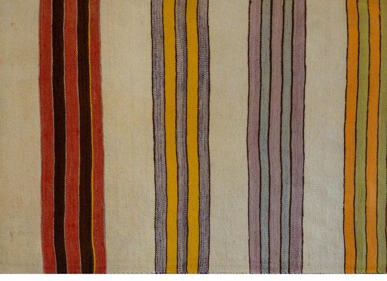 Wool Beautiful Vintage Konya Kilim Runner