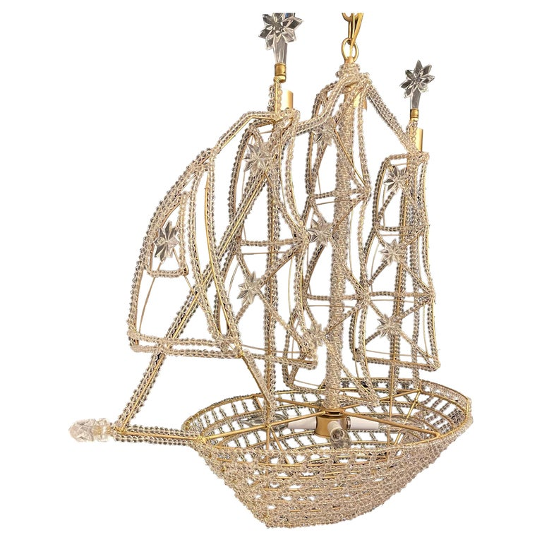 Maison Baguès boat chandelier, 20th century, offered by Antique Elements