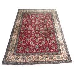 Beautiful Vintage Large Tabriz Style Rug