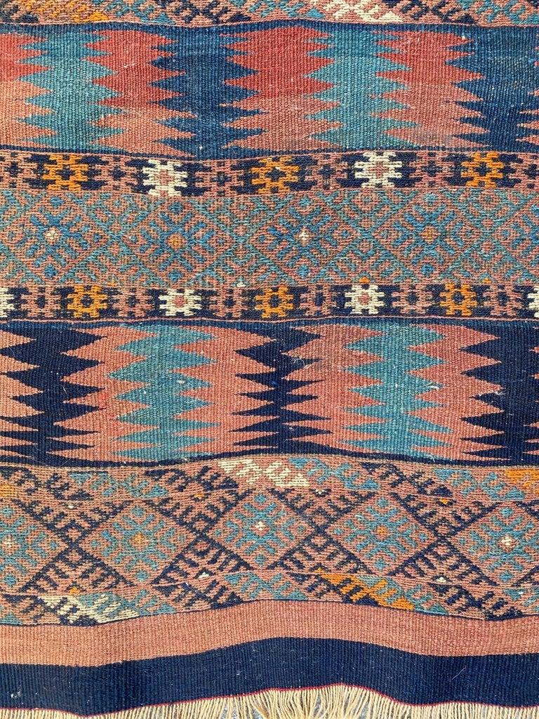 Beautiful Vintage Long Turkish Kilim 3