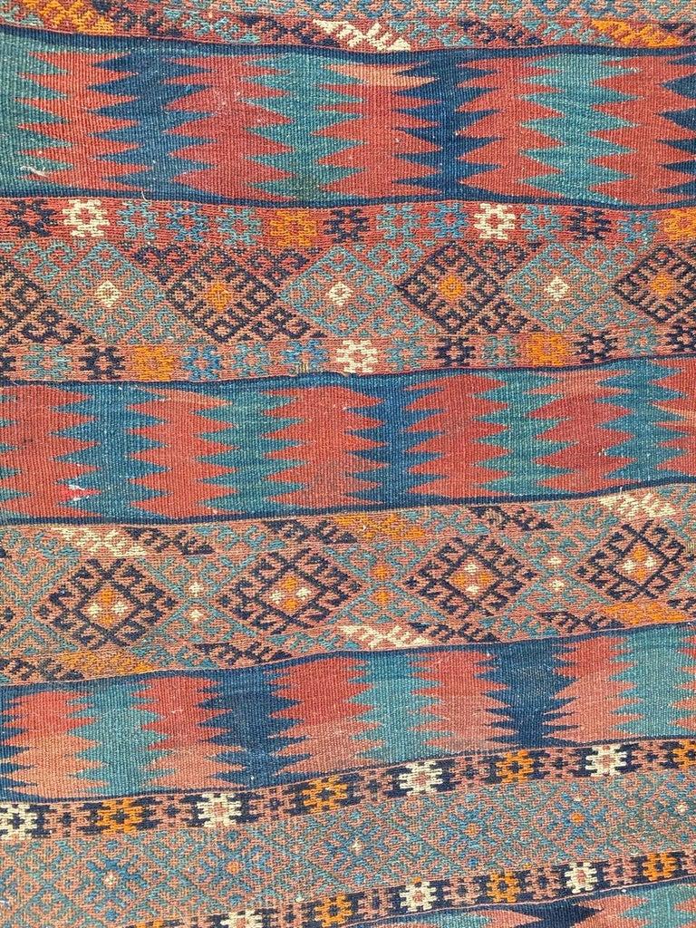 Beautiful Vintage Long Turkish Kilim 4