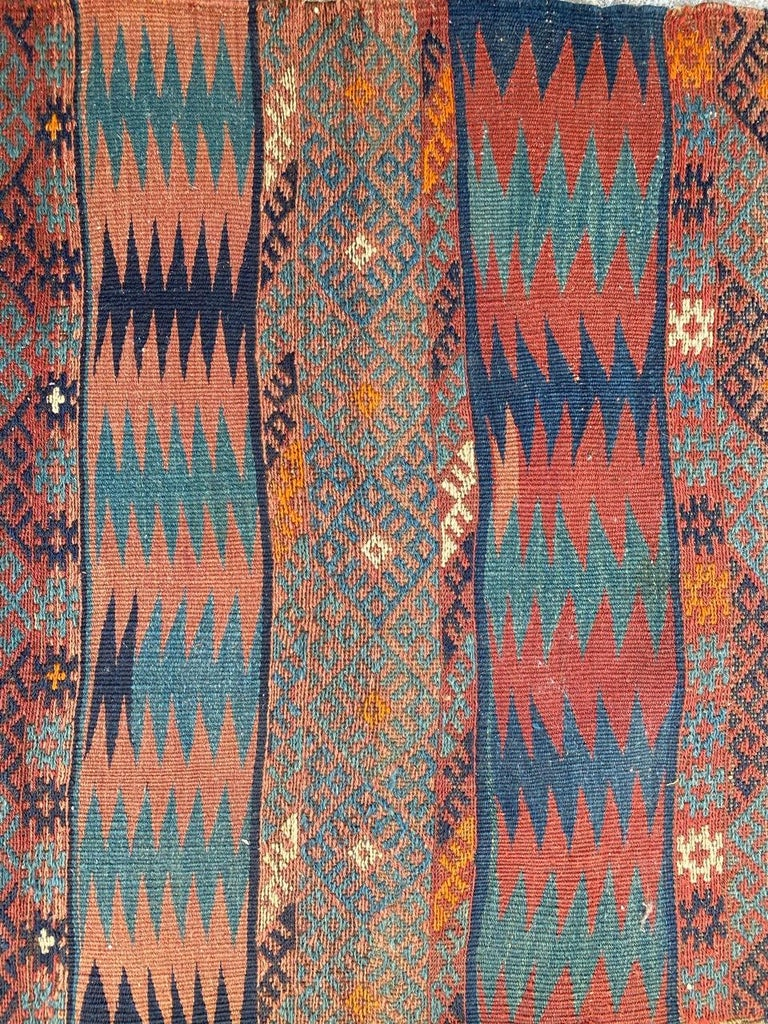Beautiful Vintage Long Turkish Kilim 5
