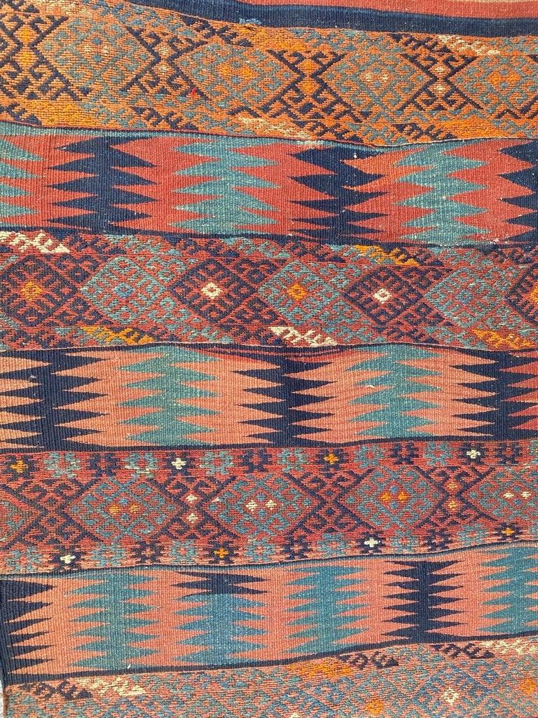 Tribal Beautiful Vintage Long Turkish Kilim
