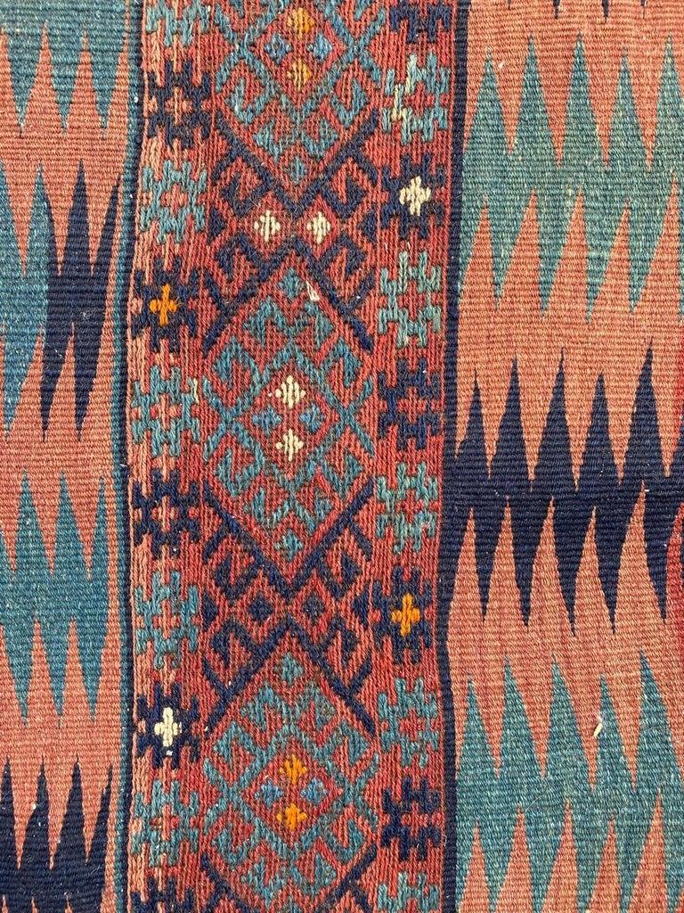 Wool Beautiful Vintage Long Turkish Kilim