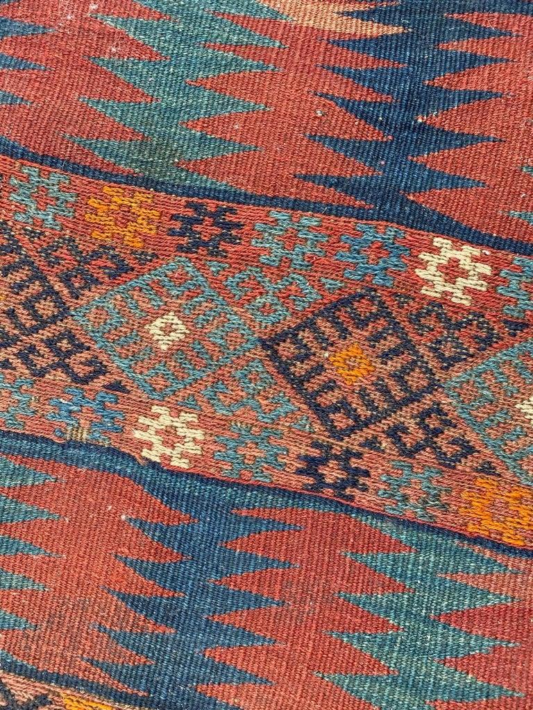 Beautiful Vintage Long Turkish Kilim 1