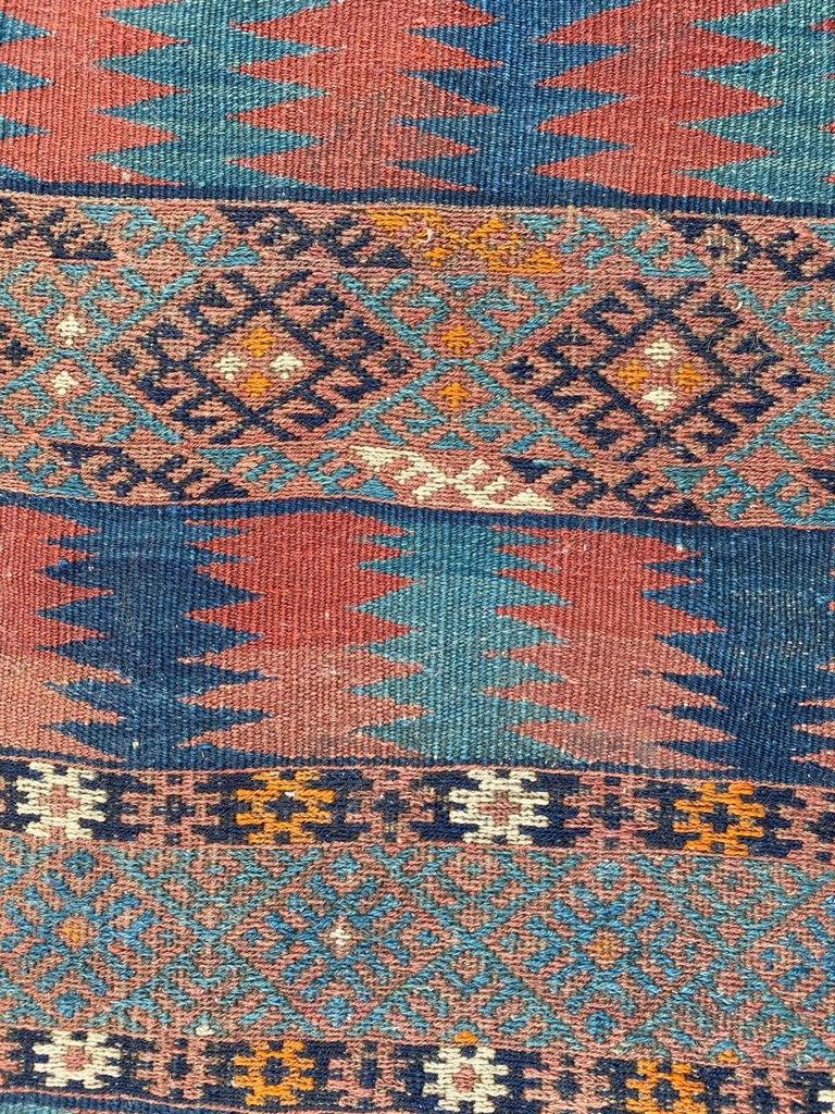 Beautiful Vintage Long Turkish Kilim 2