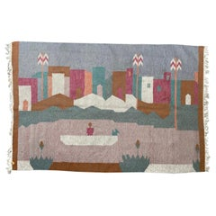 Beautiful Vintage Native Design Egyptian Tapestry