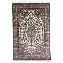 Beautiful Vintage Pakistani Silk and Wool Rug