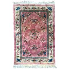 Beautiful Vintage Pink Chinese Rug