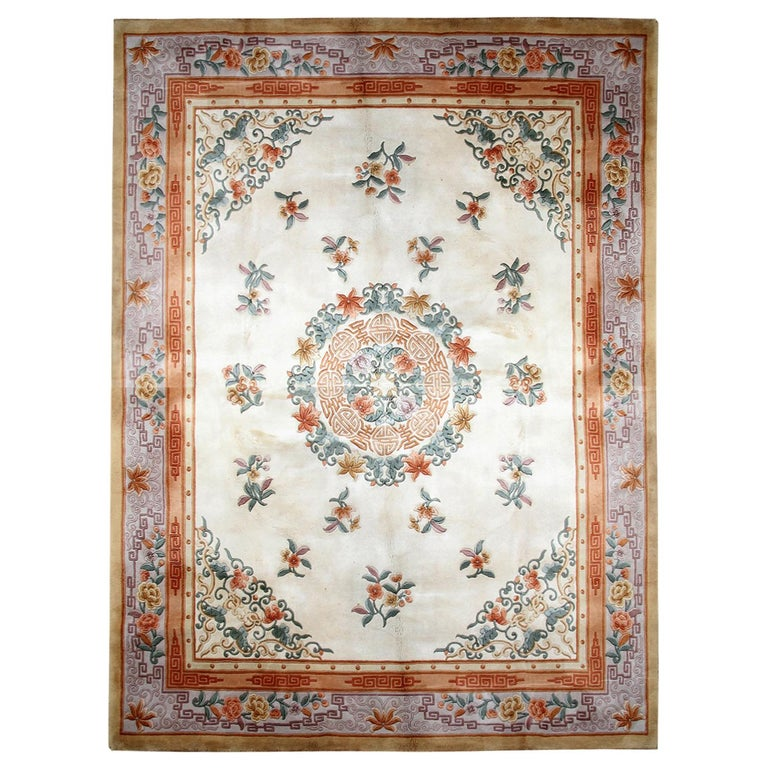 Vintage Rug Art Deco Style Chinese Rugs