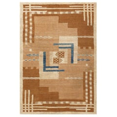 Beautiful Vintage Scandinavian Swedish Kilim Rug. Size: 5 ft 4 in x 7 ft 2 in
