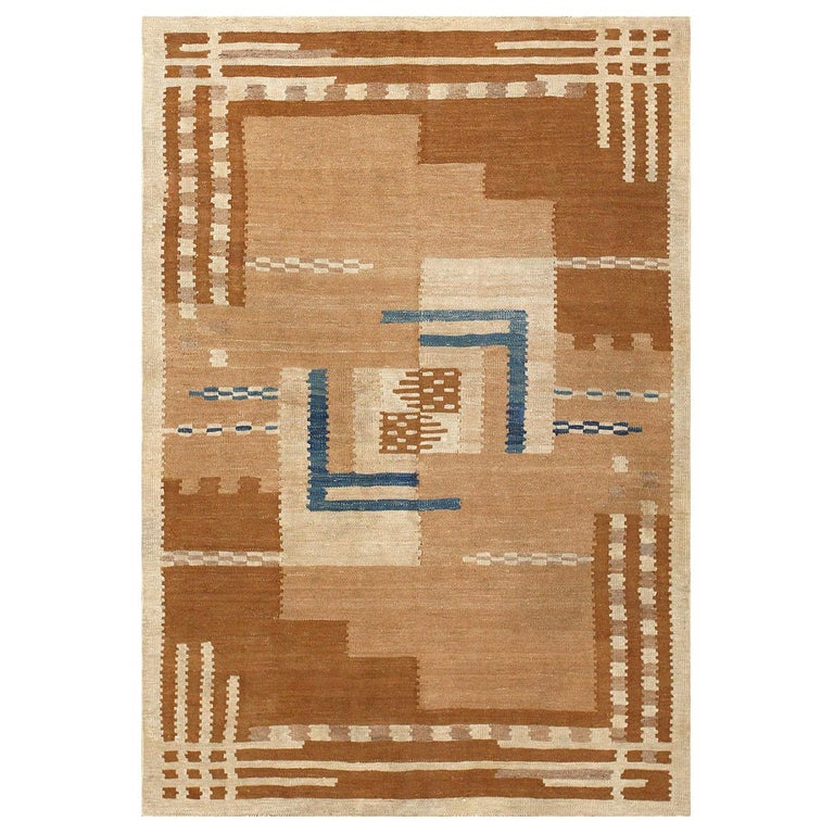 Beautiful Vintage Scandinavian Swedish Kilim Rug. Size: 5 ft 4 in x 7 ft 2 in For Sale