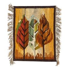 Beautiful Vintage Scandinavian Tapestry