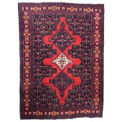 Beautiful Vintage Senneh Kurdish Rug