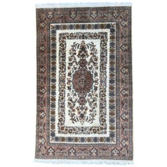 Beautiful Vintage Silk and Wool Pakistan Rug