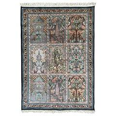 Beautiful Vintage Silk Kashmir Rug
