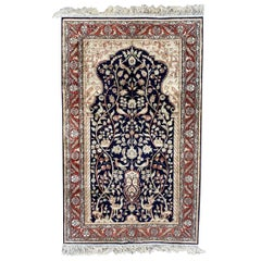 Beautiful Vintage Silk Sino Hereke Rug
