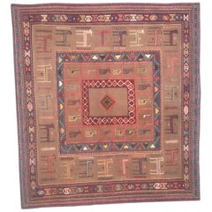 Beautiful Vintage Soumak Shahsavand Kilim