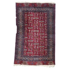 Beautiful Vintage Tekke Turkmen Boukhara Rug