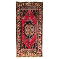 Beautiful Vintage Turkish Konya Rug
