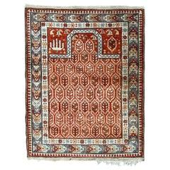 Beautiful Vintage Turkish Prayer Rug