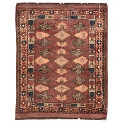 Beautiful Vintage Turkmen Afghan Rug