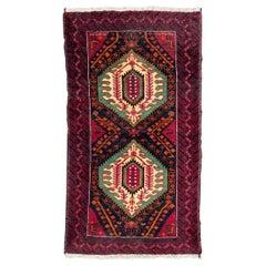 Beautiful Vintage Turkmen Baluch Rug