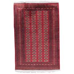 Beautiful Vintage Turkmen Boukhara Design Rug