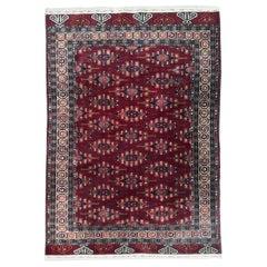Beautiful Vintage Turkmen Tekke Afghan Rug