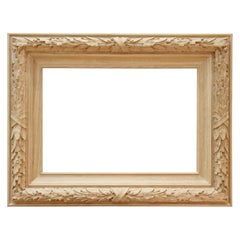 Beautiful Wall Carved Wood Mirror Frame from Oak or Beech
