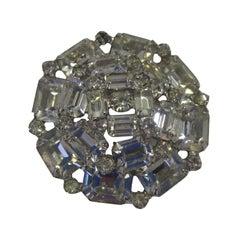 Beautiful Weiss Circular Crystal Brooch