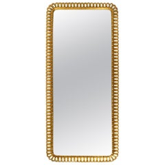Extra Large Midcentury Wall Mirror by Schöninger with Gilded Wooden Frame