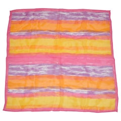 "Beautifully Delicate ""Summer Sun Rise"" Silk Chiffon Scarf"