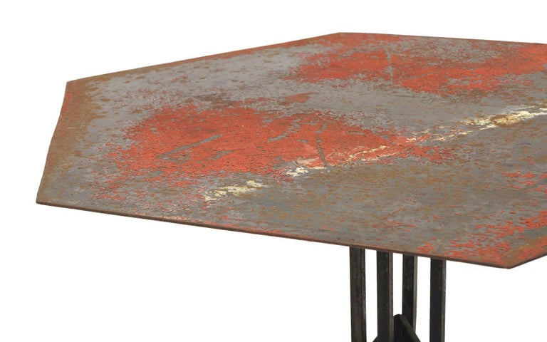 Arts and Crafts Beautifully Distressed Frank Lloyd Wright & Warren McArthur Biltmore Cafe Table For Sale
