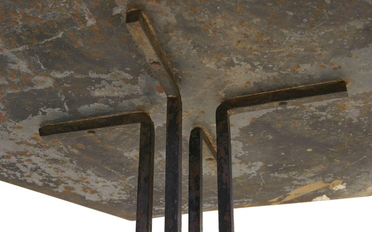 Steel Beautifully Distressed Frank Lloyd Wright & Warren McArthur Biltmore Cafe Table For Sale